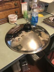 Saladmaster 316ti Titanium 7 quarts Wok Stainless waterless Cookware lid