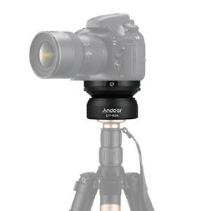 Andoer -60A Tripod Leveling Base Panorama Photography Ball Head for Canon P5W4