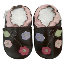 Leather Baby Infant Kid Girl Shoes Toddler Firstwalk Children Flowers 30-36M