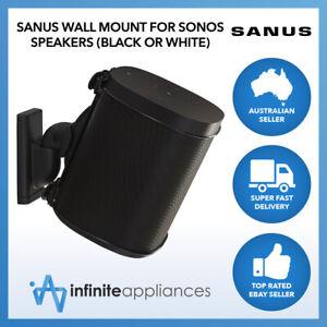 Sanus Swivel And Tilt Speaker Wall Mount For Sonos One, SL, Play:1 & Play:3 WSWM