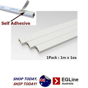 Cable Trunking Ducting Duct Management Square shaped -Self Adhesive (White)