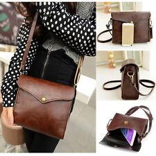 Fashion Women's Solid Leather Shoulder Bag Massenger Vintage Handbag Purse Hobo