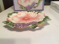 Fitz & Floyd Faund And Flora Canape Plate 2003 Date On Box New In Box