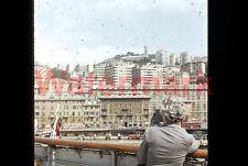 Andrea Doria Steam Ship Napoli Naples Italy 1954 Kodak Red Border 35mm Slide