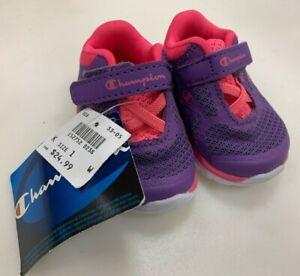 Champion Baby Girls 1W Shoes Sneakers Neon Pink Purple Toddler Shoe Size Sz 1 W