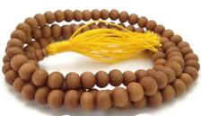 Natural Tibetan Sandalwood 108 Beads Full Mala Necklace for Meditation and Yoga