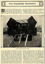 Fowler-Panzerwagen mit Haubitze * Fowler Panzer Lokomotive Text/Bilddokument1910