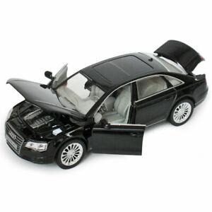 Collection Luminous Pullback Black Xmas Gift Audi A8 Diecast Model Car