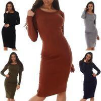 Women's Long Sleeve Midi Sweater Dress - One Size (S/M/L)