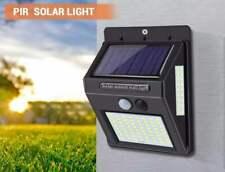 EasyMaxx 2x Solar-Lampada da parete con rilevatore di movimento in Nero