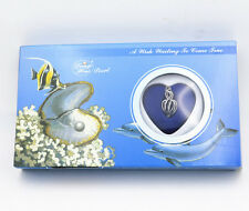 "New Gift Love Wish Pearl Kit Heart Cage 17""chain Necklac Seashells"