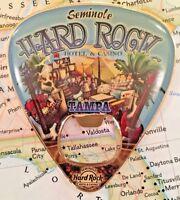 TAMPA USA 🇺🇸 SEMINOLE Hard Rock HOTEL & CASINO HRH GUITAR PICK METAL MAGNET BO