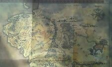 LOTR Special Edition Folded Map Middle Earth RARE