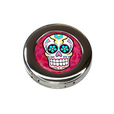Sugar Skull Foldable Retractable Purse Bag Handbag Hook Hanger Holder