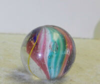 #13022m Vintage German Handmade Solid Core Swirl Marble .69 Inches