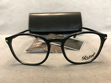 Persol 3007 - V Eyeglasses 95 Black w/ Silver Authentic 52[]19 145 - NEW + CASE