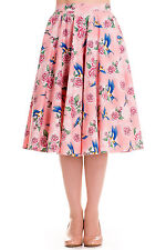 FLASH SALE! Hell Bunny Lacey Floral 50's Circle Skirt Size Small New Pink