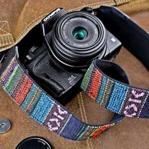 Kameragurt Schultergurt ausgefallenes Motiv Gurt Kamera DSLR vintage hippie look