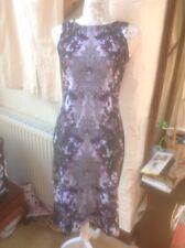 Next Size UK 10 (38) Sleeveless Dress👗Grey,black,Purple Floral-BNWT RRP £45