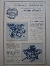 8/1924 PUB LORRAINE DIETRICH ARGENTEUIL MOTEUR AVIATION AERO ENGINE ORIGINAL AD