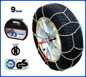 Catene da Neve 9mm Lampa WX-9 Gruppo 7 FIAT IDEA gomme 195//60r15 GD02011