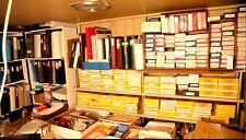 100 Sellos Sueltos Mundial De Colección heredada (Trabajo Lote de cajas y álbumes)