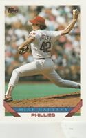 FREE SHIPPING-MINT-1993 Topps #208 Mike Hartley Philadelphia Phillies Baseball