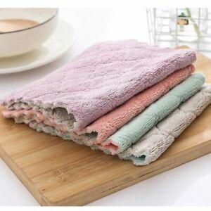 10PC Microfibre Kitchen Tea Towels Dish Glass Cleaning Duster Cloths Towel Bulk