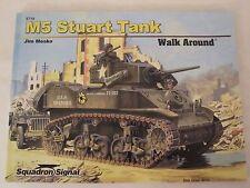 Squadron Book:  M5 Stuart Tank Walk Around - PB, Color Profiles, line drawings