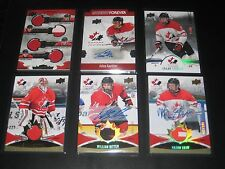 MITCH MARNER DYLAN STROME ++ '16 Upper Deck TEAM CANADA juniors QUAD JERSEY card