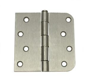 "Satin Nickel Door Hinge 4"" with 5/8"" and straight corner radius 4 inch"