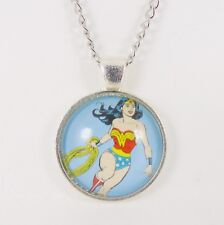 WONDER WOMAN NECKLACE dc comic hero justice league cosplay amazon lasoo glass