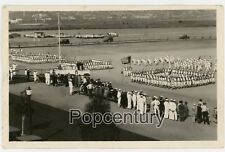 RPPC Postcard Photograph 1928 San Diego Naval Training Station US Navy Posted