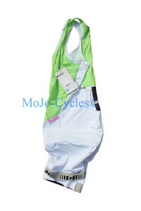 Assos tB.laalaLai S5 Cycling Suit Size Medium White Green Swiss with Chamois New