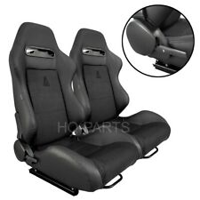 2x Tanaka Black Pvc Leather Amp Black Suede Racing Seats Reclinable Fits Toyota Fits Toyota Celica