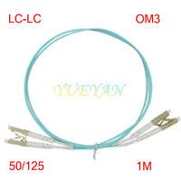 1 Meter LC-LC OM3 10GB Fiber Optic Patch Cord Cable Multi-mode Duplex  50/125