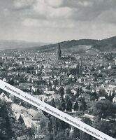 Freiburg im Breisgau - Luftbild - um 1955 oder früher ? - selten!