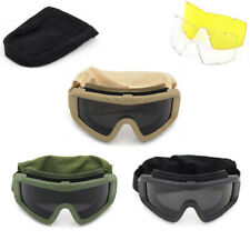 Tactical Safety Goggles Military Shooting Hunting Glasses 3 Interchangeable Lens