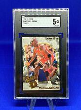 1992-93 Fleer, Michael Jordan #5 TOTAL D, SGC EXELLENT 5