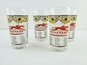 Lot of 4 2013 138 Preakness Stakes Glasses