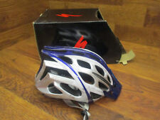 SPECIALIZED PROPERO BICYCLE BIKE CYCLING ROAD HELMET BLUE & WHITE SMALL 51-57CM