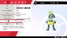 Pokemon LUCARIO shiny 6IV + masterball - Battle Ready - Pokémon Epée/Bouclier
