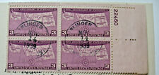 1939  Four States 50th Anniversary Block of four 3 Cent Stamp