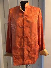 Beautiful Chinese Reversible Jacquard Jacket, Size Large