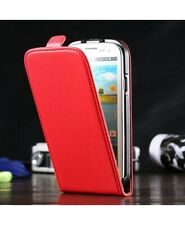 Flip Red Leather Case Cover for Samsung Galaxy S6 Edge