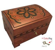 Large Wooden Keepsake Chest Ebay