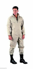 FLIGHTSUIT KHAKI USAF STYLE  MENS COVERALL JUMPSUIT ROTHCO  SIZE S M L XL 2X 3X