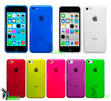 CUSTODIA CASE COVER PER APPLE IPHONE 5C TPU GEL TRASPARENTE FLESSIBILE COLORATA