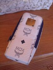 Authentic   *MCM* -  GLASS CASE  in  white&blue  -----   NEW  condition