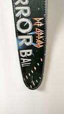 Def Leppard Leather High Quality Guitar Strap Mirror England British Heavy Metal